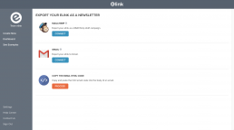 How to export elink email newsletters