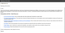 Example of how to send plain text gmail newsletters as a brand manager.