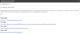 Example of how to send plain text gmail newsletter as a brand manager.