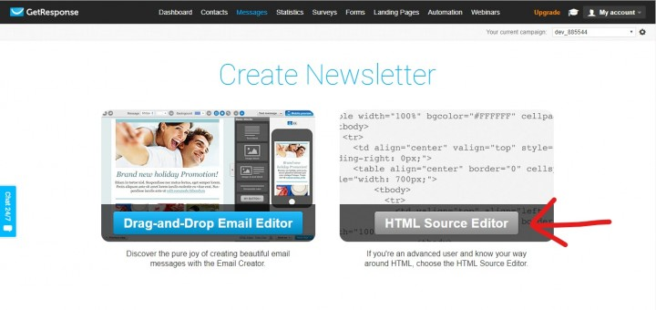 Getresponse newsletter trick how to send a newsletter in half the time paste your html from elink in the getresponse editor you can even preview your newsletter or send it as a test to yourself to make sure everything looks as spiritdancerdesigns Images