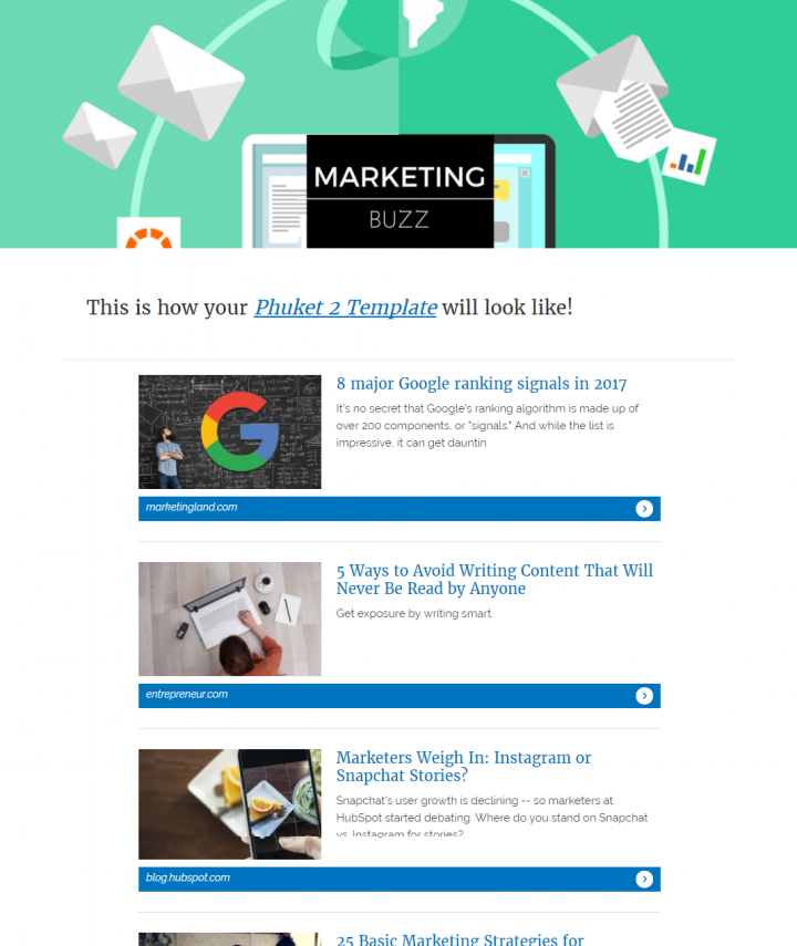Curated Newsletter Template Designs That Are Fully Responsive - Newsletter content template