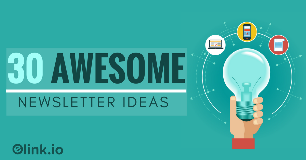 newsletter idea 33 awesome curated newsletter ideas for you - Newsletter Ideas