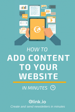 How To Add Content To Your Website in Minutes - elink.io (2) - PIN