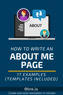 How to Write an About Me Page - 17 Examples (Templates Included) - Pin