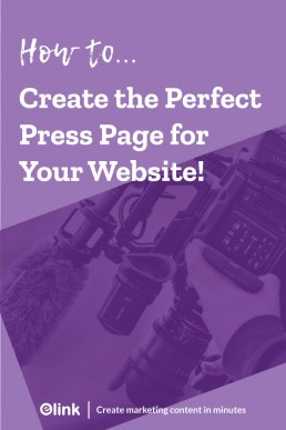 How to create the perfect press page for your website