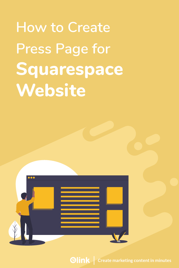 How to create press page for squarespace website - pinterest